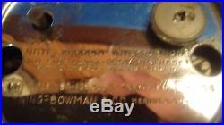 Art Deco Machine Age 1930's Rare Manning Bowman Electric Clock Catalin Chromium