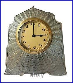 Art Deco Silver clock 1924