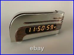 Art Deco Streamline Moderne Lawson Zephyr LED GPS Digital Clock