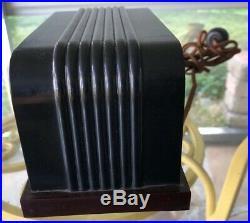 Art Deco Telechron Baron Clock c1936 Cyclometer Bakelite Case