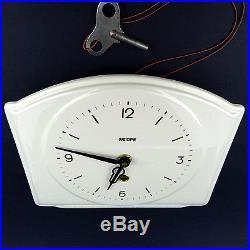Art Deco WEMPE Wanduhr mit Schlüssel 30er bis 50er Jahre Uhr Wall Clock vintage