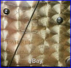 BEAUTIFUL GUFA ART DECO MANTLE CLOCK With 5 BAR WESTMINSTER CHIMEPATENT 421434