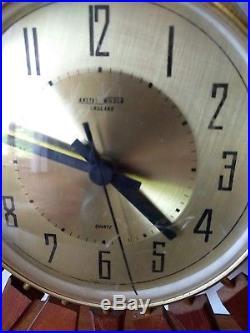 BEAUTIFUL large Anstey and Wilson sunburst starburst clock, art deco style