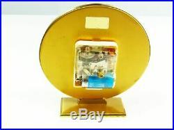 Beautiful Art Deco Bauhaus Brass Desk Clock Junghans Ato Mat Germany