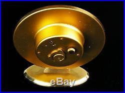 Beautiful Art Deco Bauhaus Brass Desk Clock Junghans Germany