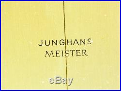 Beautiful Art Deco Bauhaus Brass Desk Clock Junghans Meister Germany