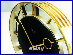 Beautiful Art Deco Bauhaus Brass Desk Clock Kienzle Heinrich Moeller Germany