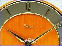 Beautiful Art Deco Bauhaus Desk Clock Kienzle Germany Design Heinrich Moellr