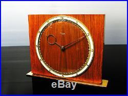Beautiful Art Deco Bauhaus Desk Clock Kienzle Heinrich Moeller Germany