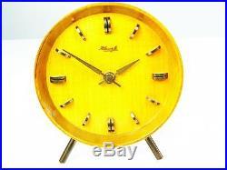 Beautiful Art Deco Bauhaus Wood Desk Clock Kienzle Heinrich Moeller Germany