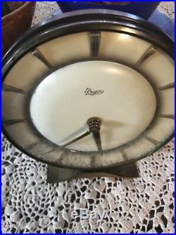 Beautiful Art Deco Table Clock Mechanic Clockwork Urgos