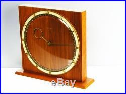 Beautiful Rare Art Deco Desk Clock Kienzle Germany Heinrich Moeller Design