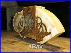 Belle et grande pendule horloge marbre art deco french clock