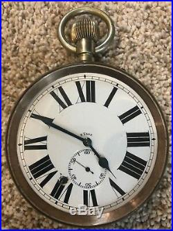 Bronze Art Deco Cobra Pocket Watch Stand by Edgar Brandt includes 8 Tage clock