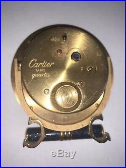 Cartier Pendulette Art Deco Basculante Alarm Clock