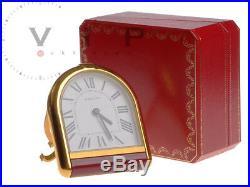 Cartier Pendulette Watch Desk Clock Alarm Table Travel Rare