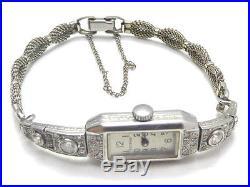 ESZEHA Uhr GOLD watch Diamanten diamond titanic art deco jugendstil clock antik