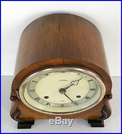 Elliott Art Deco Walnut Striking Clock