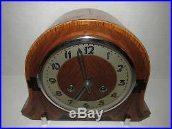 English Art Deco Mantel Clock, 8-Day, Time/Strike, Key-wind