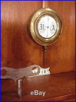 Fabulous Antique Phs Wall Art Deco Box Clock Regulator 8 Day 1910 Philip Haas