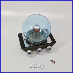 Fabulous Art Deco 1930's animated Fish Globe Clock, Metal & Glass AS IS U-Fix