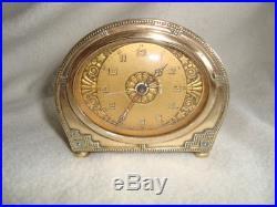 Fabulous Art Deco Antique 1930`s Alarm Clock Great Dial G. W. O