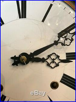 French Morbier or Comtoise Clock Movement Including Two Pendulums and Weights
