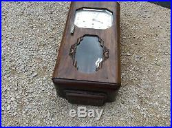 French Vintage Frere-jaques WOOD WALL CLOCK Vedette WESTMINSTER 8 Hammer Artdeco