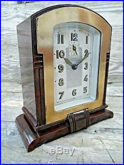 French Wind Up Art Deco Bakelite Alarm Clock By Bayard Excellent Condition Gwo