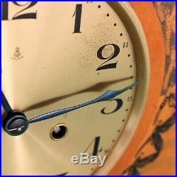 GUSTAV BECKER Mantel Clock XXL ARTWORK Antique ART DECO HIGH GLOSS Chime German