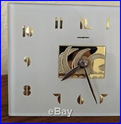 General Electric Vintage Original Art Deco 1930's Mirage Shelf/Mantle Clock