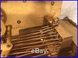 German Art Deco Chime Clock Glass Case Cuckoo Clock Co 3 Chime Options Runs