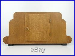German Mantel Shelf Clock Junghans Art Deco 1936 WW2 8 day (Mauthe Kienzle era)