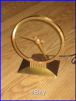 Gorgeous Vintage Jefferson Golden Hour Electric Art Deco Mystery Clock 580-101