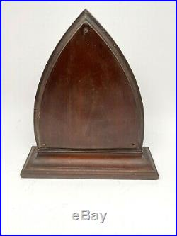 Gothic 1920's Waltham Art Deco Mahogany 8 Day Mantel Clock Excellent REDUCED