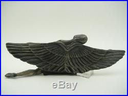Great Vintage ART DECO Sculpture Woman Wings Beautiful TABLE CLOCK Mascot France