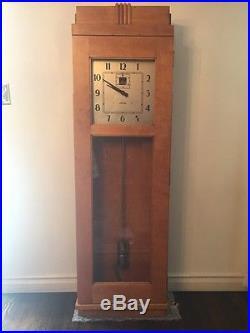HUGE 66 Standard Electric Master Clock Invar Pendulum Art Deco Style 1930s