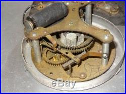 HUGE Antique Vintage 1930s Art Deco 24 Standard Copper Wall Clock AS IS