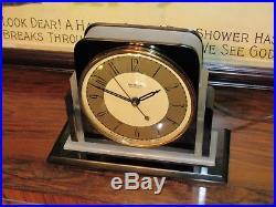 Hammond Art Deco black catalin clock not a Telechron