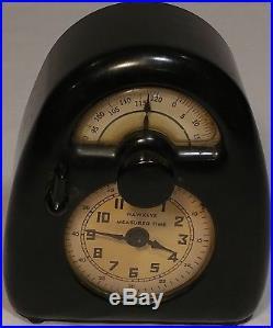 Hawkeye Measured Time Timer Clock by Isamu Noguchi Art Deco Bakelite 1932