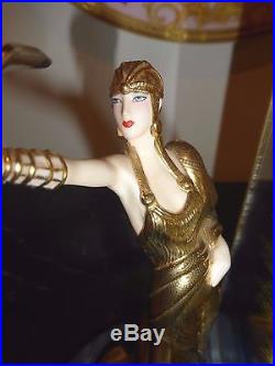 House Of Erte Wings Of Time Art Deco Limited Edition Porcelain Figurine Clock
