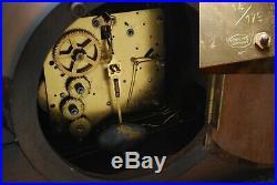 Huge FMS Mauthe vintage Art Deco mantle clock Westminster Chime Germany runs