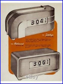 Iconic American Art Deco Machine Age Zephyr Electric Desk Clock