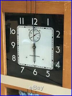 International Business Machines Wooden Case Art Deco Master Clock