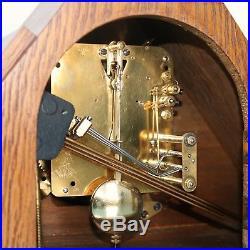 JUNGHANS Mantel Clock ART DECO BRONZE Dial! Antique RESTORED Germany 3 Bar Chime