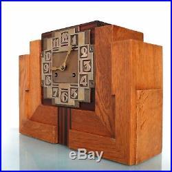 JUNGHANS WURTTEMBERG Mantel Clock Art Deco Antique SKYSCRAPER Chime German