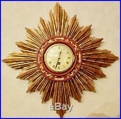 Japy Freres Sunburst Clock 8 Day Running
