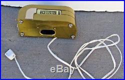 KEM WEBER Streamline Art Deco Digital Plug-In Clock, Designed in the 1930's