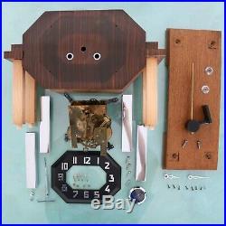 KIENZLE Clock Mantel ART DECO 3 Bar Chime Chrome PILLAR Features SERVICED German