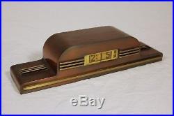 Kem Weber Art Deco Style Digital Clock Lawson Time Inc. Model P40/Style 490